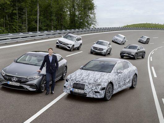 mercedes solo auto elettriche 2030