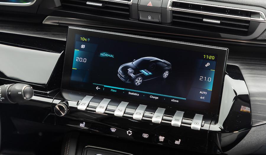 modalità di guida peugeot 508 hybrid